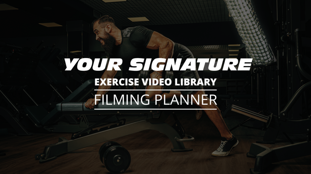 Exercise Video Library Planner